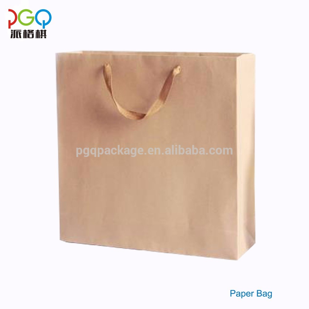 Recycled custom cellulose raw materials die cut brown paper bag